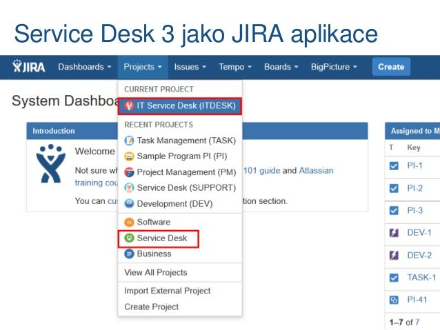 Jira Aplikace