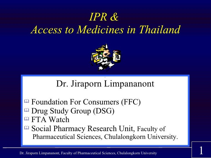 IPR &        Access to Medicines in Thailand                                                                             ...