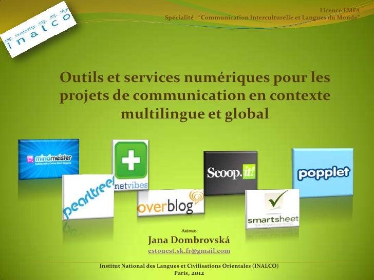 """Licence LMFA                                              Spécialité : """"Communication Interculturelle et Langues du Monde""""..."""