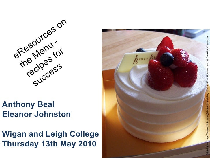 Anthony Beal                                Eleanor Johnston        Thursday 13th May 2010      Wigan and Leigh College   ...