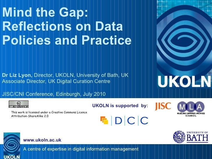 Mind the Gap: Reflections on Data Policies and Practice
