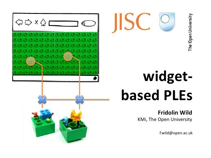widget-based PLEs          Fridolin Wild  KMi, The Open University           f.wild@open.ac.uk