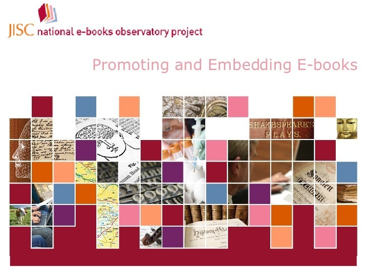 Promoting and Embedding E-books