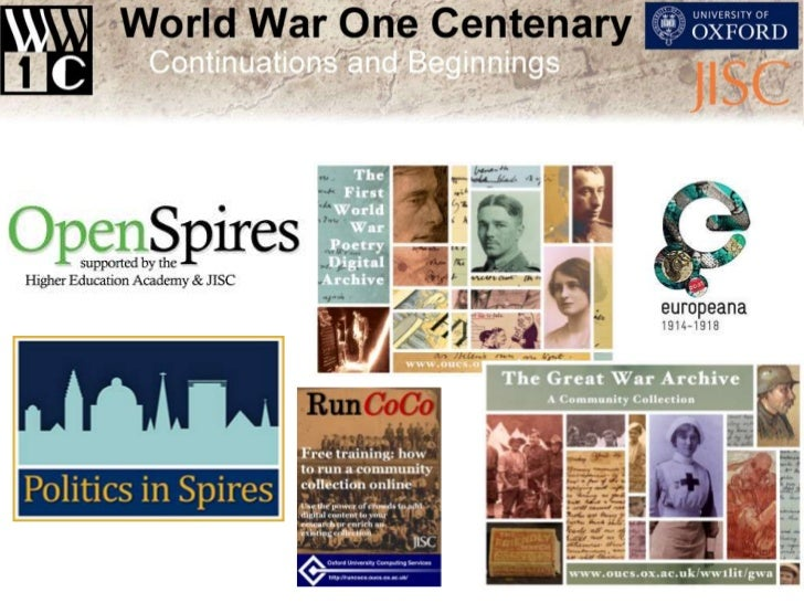 To create innovative Open Educational Resources around WW1relevant across disciplines for embedding in teaching and learni...