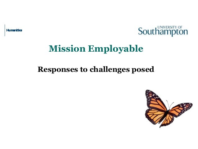 Mission Employable Responses to challenges posed