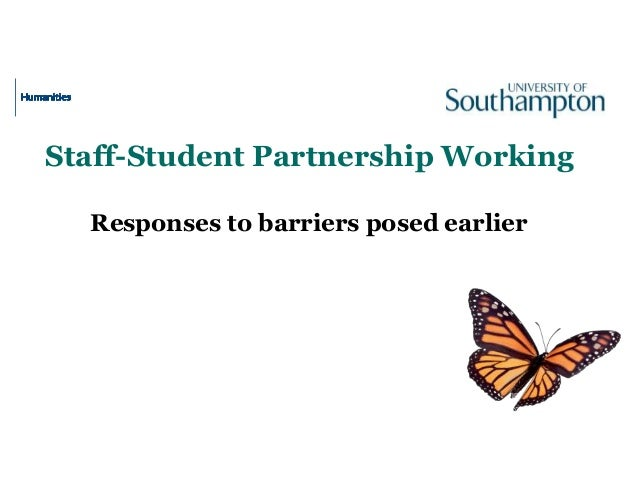 Staff-Student Partnership Working Responses to barriers posed earlier
