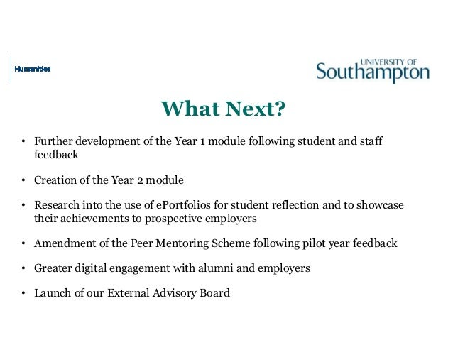 What Next? • Further development of the Year 1 module following student and staff feedback • Creation of the Year 2 module...