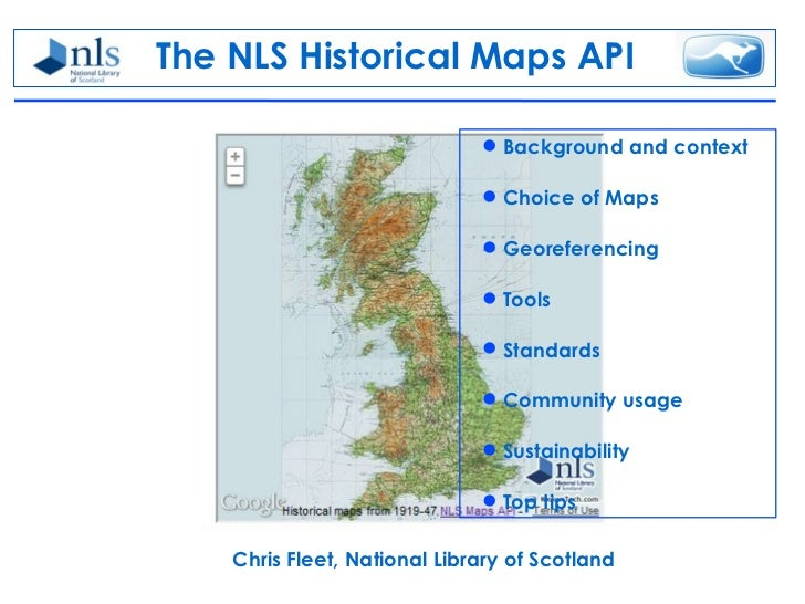 The NLS Historical Maps API                               Background and context                               Choice of...