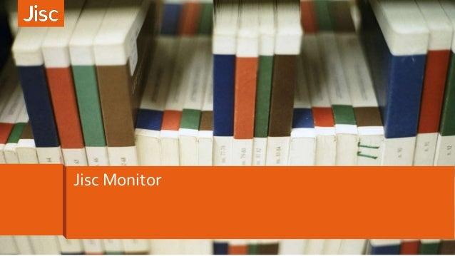 Jisc Monitor
