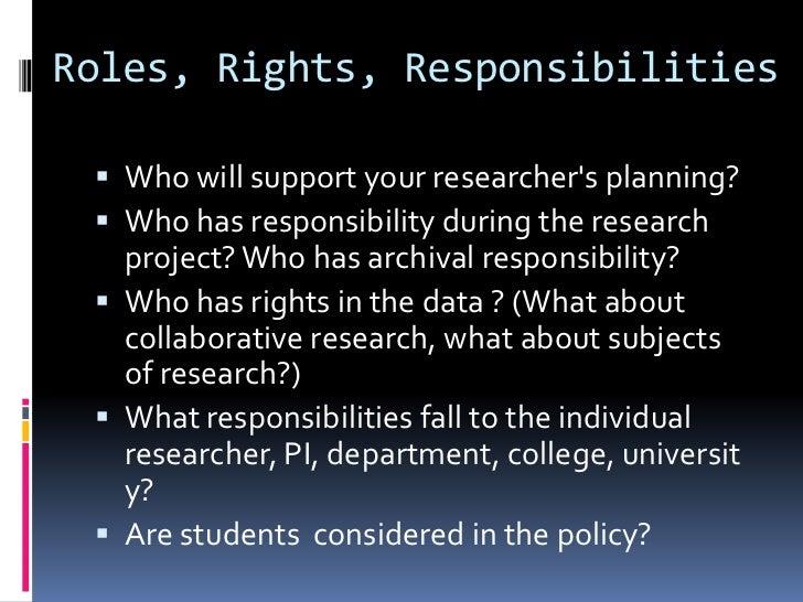 Edinburgh: Shared ResponsibilitiesUniversity                          Researcher / research unit Research data will be   ...