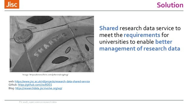 Solution Shared research data service to meet the requirements for universities to enable better management of research da...