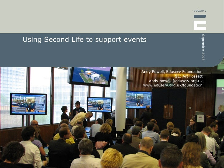 Using Second Life to support events
