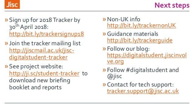 jisc student digital experience tracker webinar 28 nov 2017