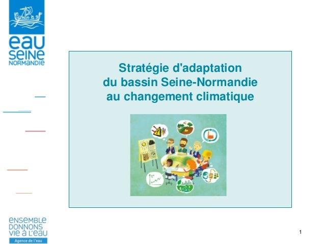 1 Stratégie d'adaptation du bassin Seine-Normandie au changement climatique