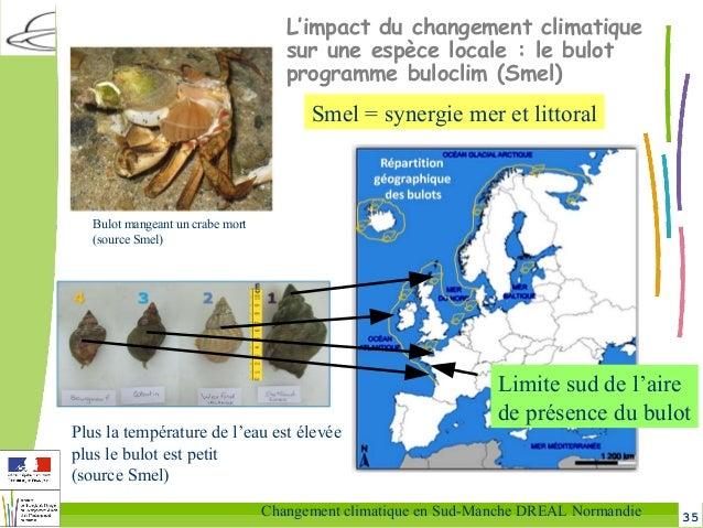 35Changement climatique en Sud-Manche DREAL Normandie L'impact du changement climatique sur une espèce locale: le bulot p...