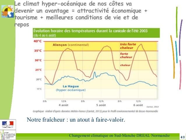 40Changement climatique en Sud-Manche DREAL Normandie Le climat hyper-océanique de nos côtes va devenir un avantage = attr...