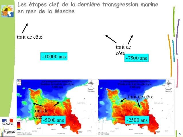 5Changement climatique en Sud-Manche DREAL Normandie Les étapes clef de la dernière transgression marine en mer de la Manc...