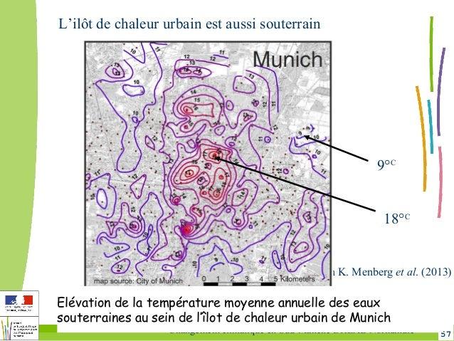 57Changement climatique en Sud-Manche DREAL Normandie in K. Menberg et al. (2013) Elévation de la température moyenne annu...