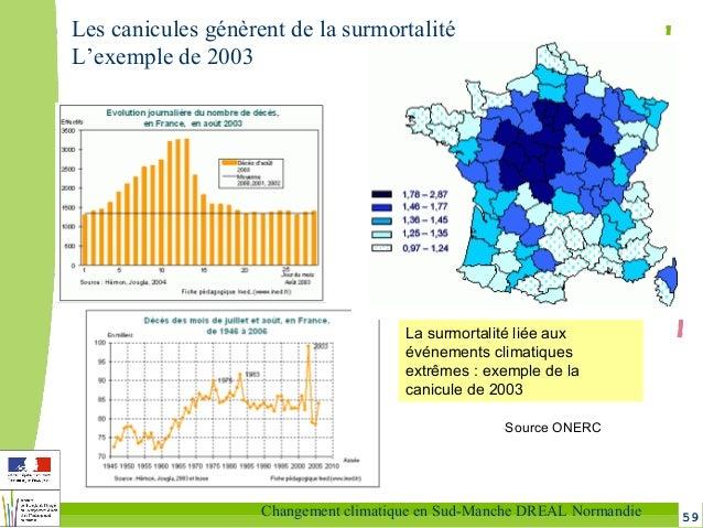 59Changement climatique en Sud-Manche DREAL Normandie La surmortalité liée aux événements climatiques extrêmes : exemple d...