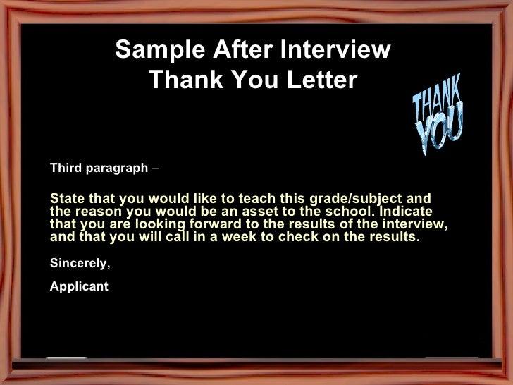 J is for j o b sample after interview thank you letter spiritdancerdesigns Images