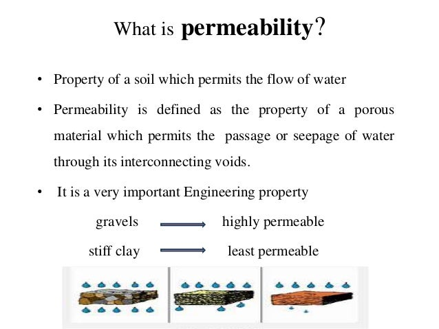 Soil permeability ppt for What is soil definition