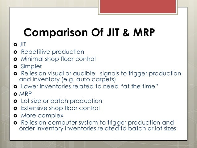Difference Between ERP and MRP