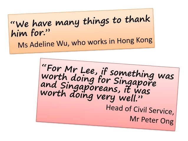 """""""The greatest tribute that Singaporeans can pay him is … to make Singapore an even better home."""" President Tony Tan"""