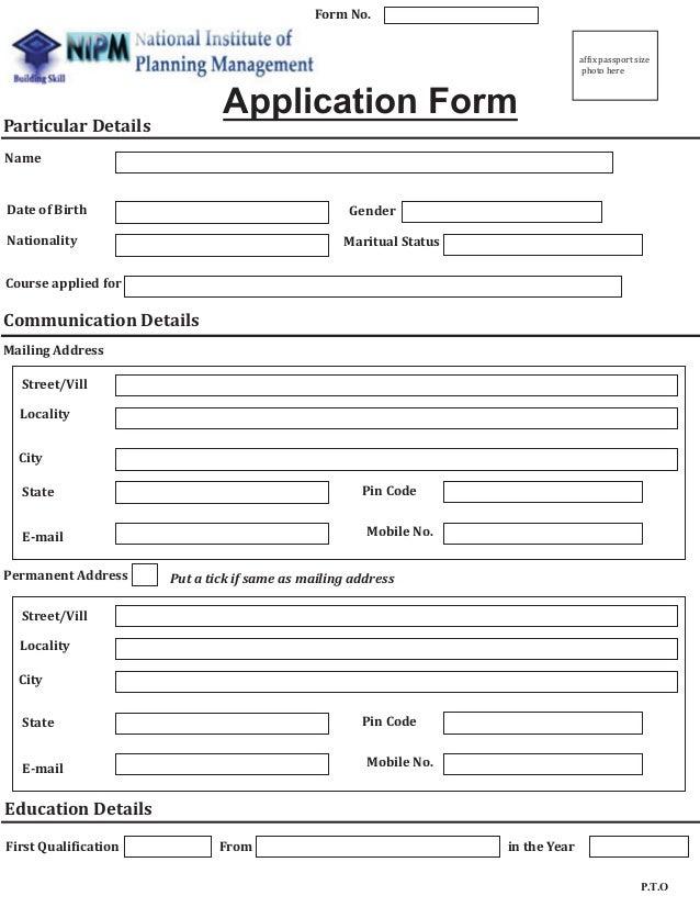 Executive MBA Enrollment form