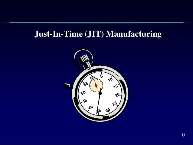 0 Just-In-Time (JIT) Manufacturing