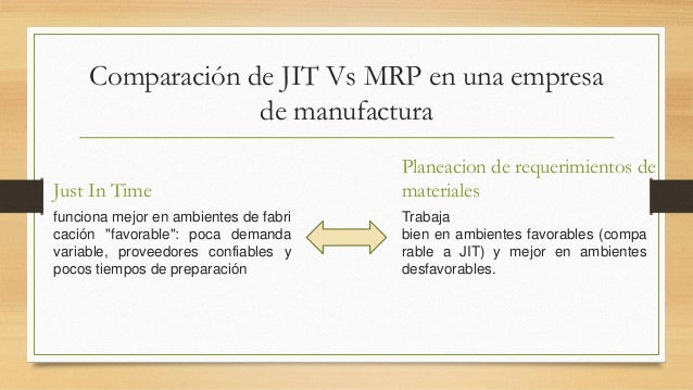 jit and toc Jit vs mrp by billie nordmeyer  companies implement the just-in-time inventory method to achieve a balance between financial performance as gauged by cash flow.