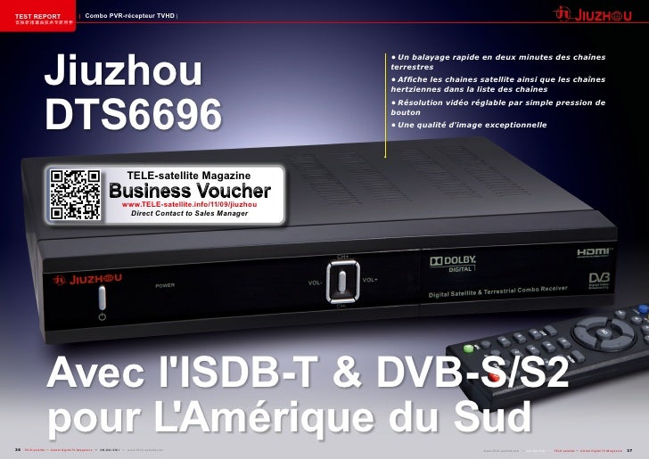 TEST REPORT                            Combo PVR-récepteur TVHD该独家报道由技术专家所作                Jiuzhou                        ...