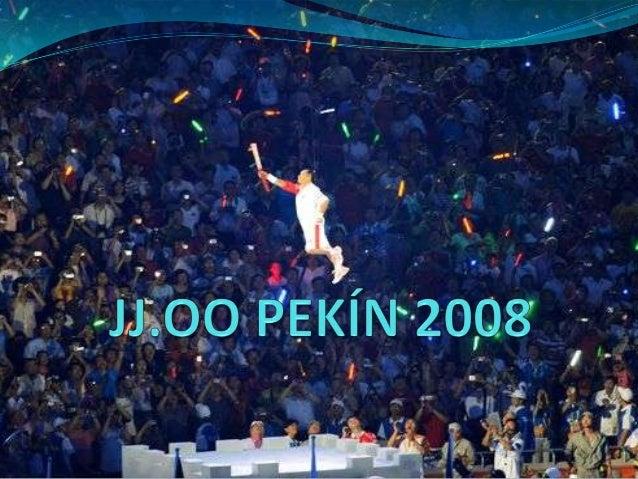 LOS JUEGOSOLIMPICOS DEPEKIN En el evento participaron unos10.902 atletas(De éstos, 6.294 eranhombres y 4.608 eran mujeres)...