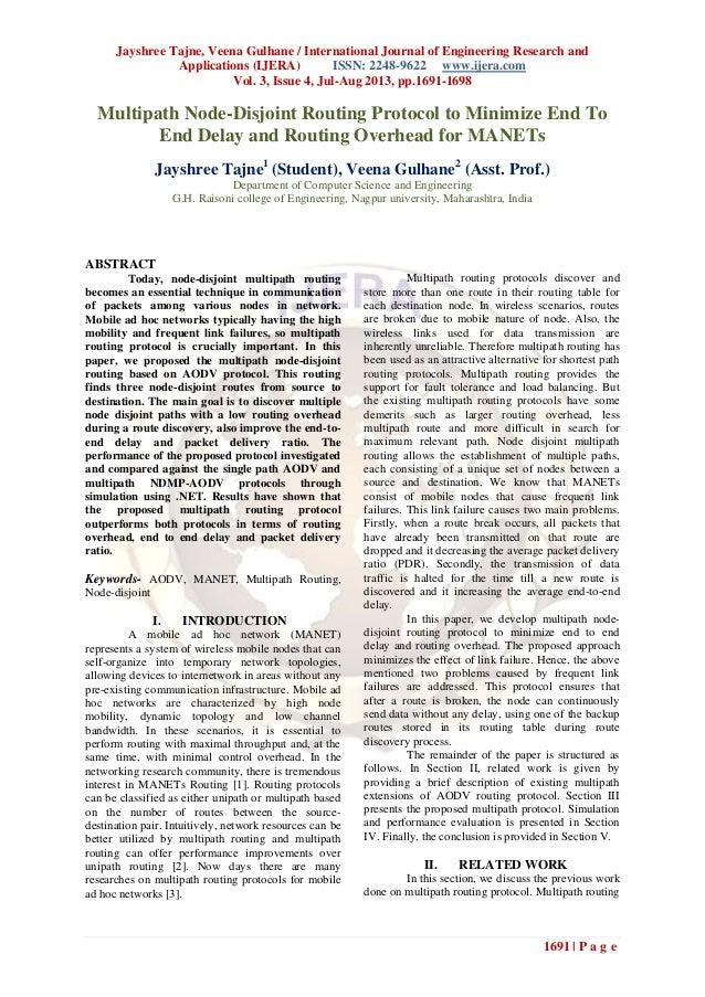 Jayshree Tajne, Veena Gulhane / International Journal of Engineering Research and Applications (IJERA) ISSN: 2248-9622 www...