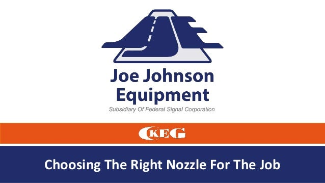 Choosing The Right Nozzle For The Job