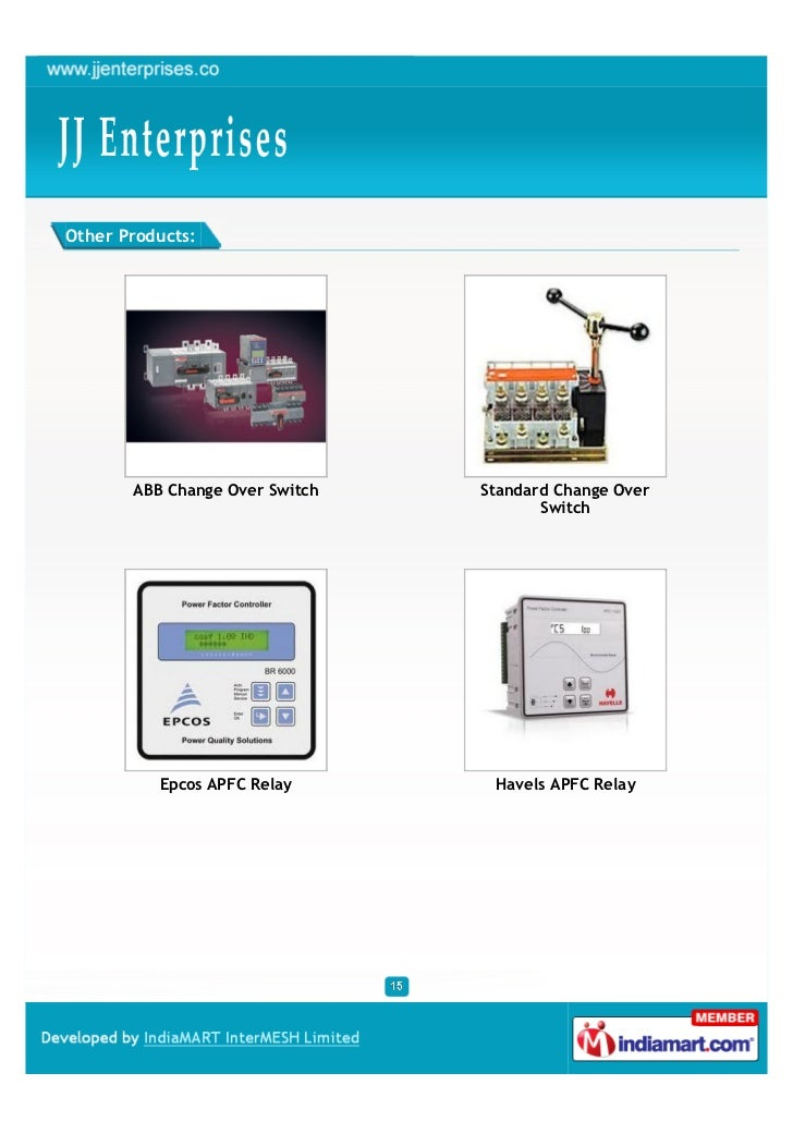 Other Products:       ABB Change Over Switch   Standard Change Over                                       Switch          ...