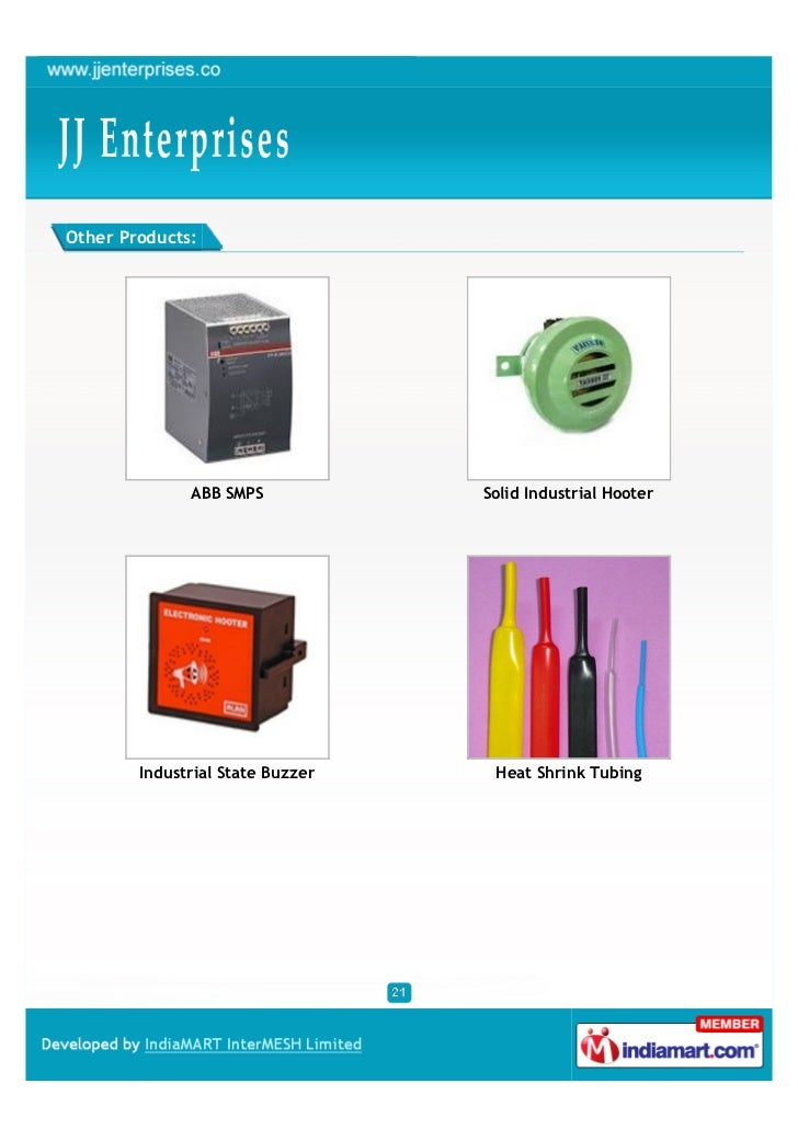 Other Products:              ABB SMPS            Solid Industrial Hooter        Industrial State Buzzer    Heat Shrink Tub...