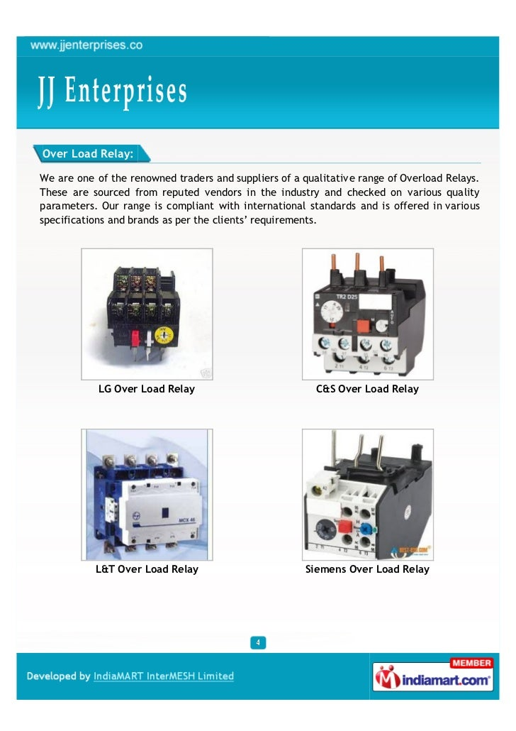 Over Load Relay:We are one of the renowned traders and suppliers of a qualitative range of Overload Relays.These are sourc...
