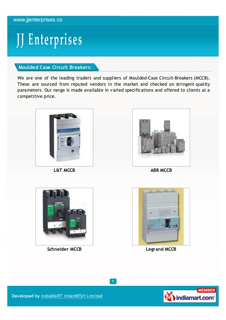 Moulded Case Circuit Breakers:We are one of the leading traders and suppliers of Moulded-Case Circuit-Breakers (MCCB).Thes...