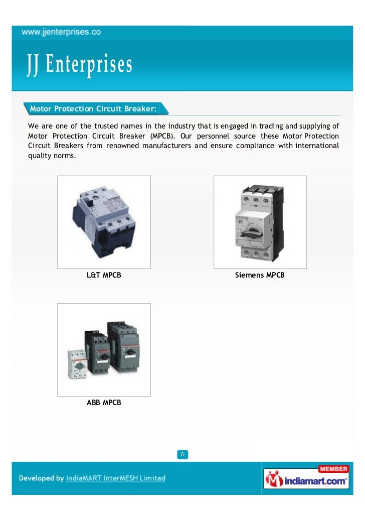 Motor Protection Circuit Breaker:We are one of the trusted names in the industry that is engaged in trading and supplying ...