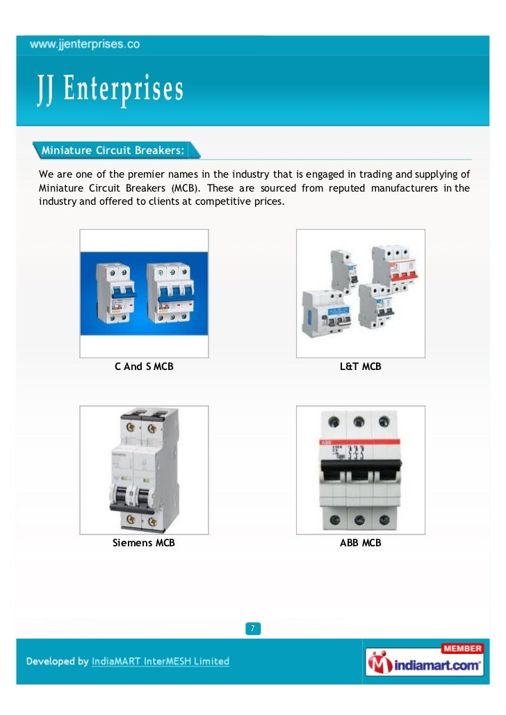 Miniature Circuit Breakers:We are one of the premier names in the industry that is engaged in trading and supplying ofMini...
