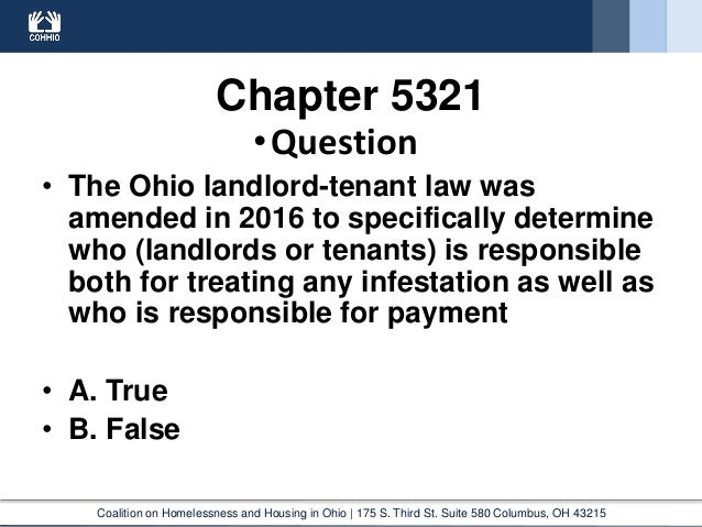 Bed Bugs & The Law 2018 COBBTF Summit Slide 2