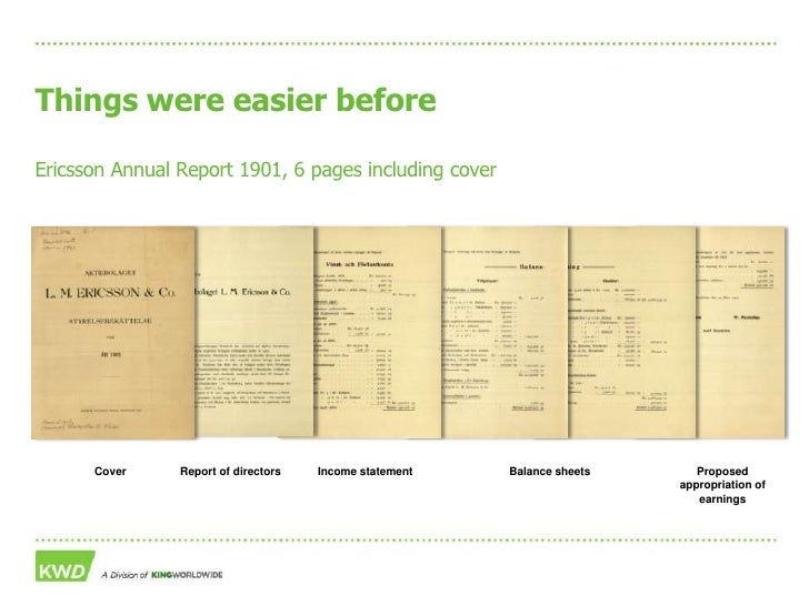 From print to digital – moving the Annual Report into the 21st century Slide 3