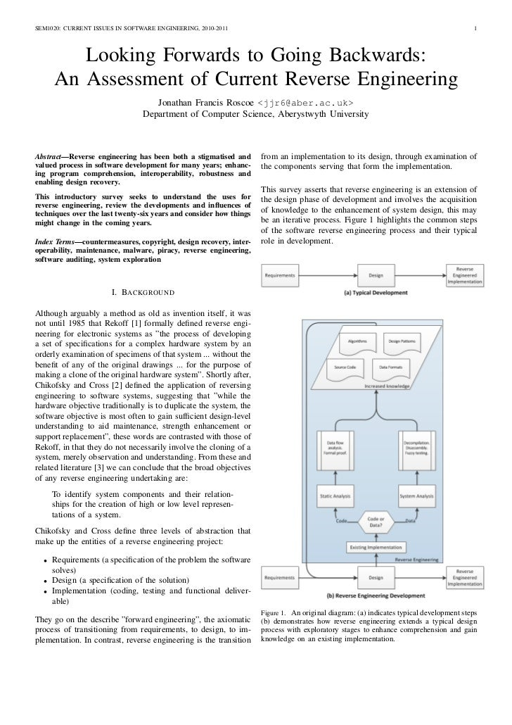 SEM1020: CURRENT ISSUES IN SOFTWARE ENGINEERING, 2010-2011                                                                ...