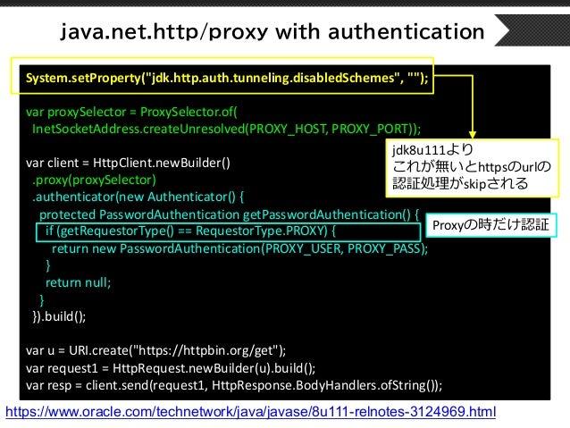 Introduction httpClient on Java11 / Java11時代のHTTPアクセス