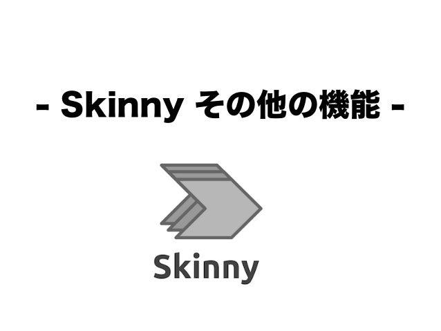 - Skinny その他の機能 -