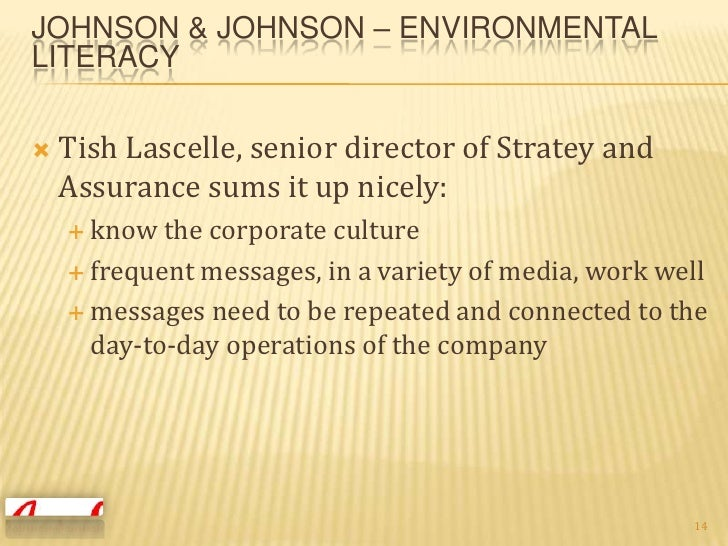 johnson and johnson analysis Introduction to the case johnson & johnson which was founded in 1886, is an  american multinational involved in manufacturing medical.