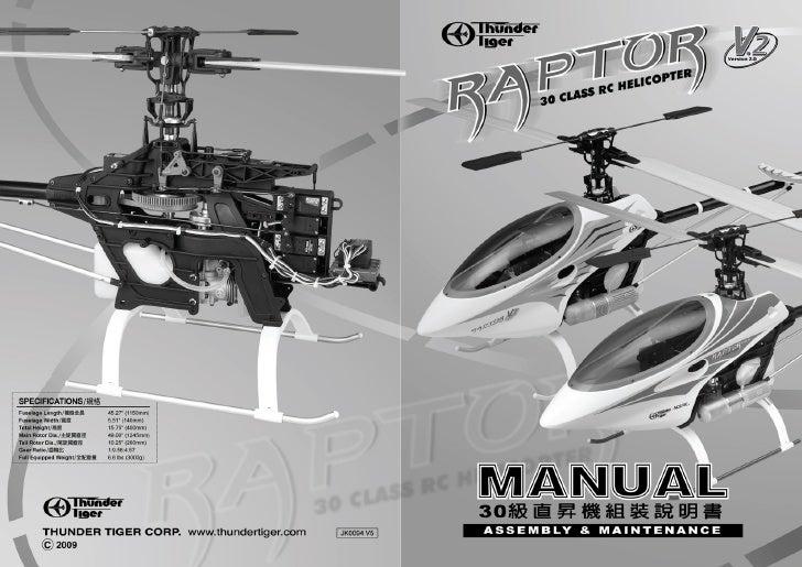 Manuale Raptor 30 V2