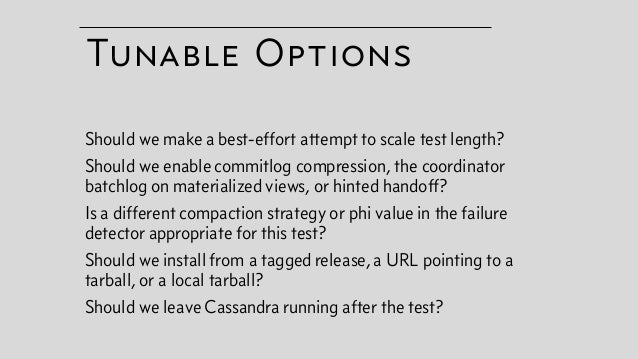 Cassandra compaction strategy options
