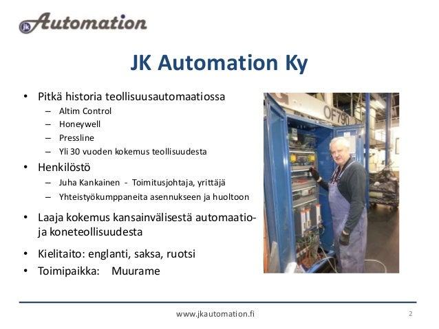 Jk automation esittely Slide 2