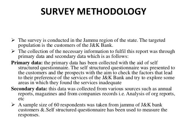 modern banking services questionnaire